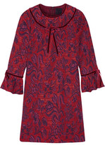 Anna Sui Floral-Jacquard Mini Dress