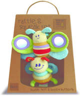 Little Bird Told Me Rattle & Squeak Set - Bee & Butterfly