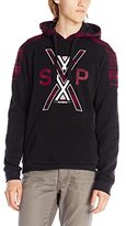 Southpole Men's Pull Over Hoodie with All Over Aztec Horizontal Body Cut
