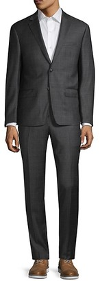 Calvin Klein Extra Slim-Fit Check Wool Suit