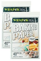 WRAPOK Non-Stick Parchment Paper Sheets Baking Pan Liners Pre-Cut for Cooking Cake Kitchens 8 x 12 Inch – 80 Count