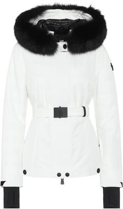 Moncler Laplance fur-trimmed ski jacket