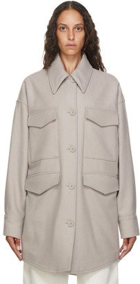 MM6 MAISON MARGIELA Beige Wool Oversize Coat