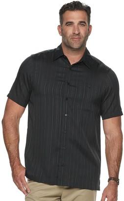 Haggar Big & Tall Classic-Fit Microfiber Button-Down Shirt