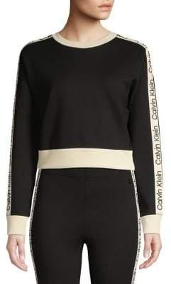 Calvin Klein Dropped-Shoulder Cropped Sweatshirt
