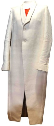 Rick Owens Ecru Wool Coats
