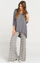MUMU Fiesta Flare Pant ~ Shadow Stripe Rib Rose & Grey