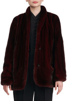 Zac Posen Mink Fur Jacket w/ Rounded Front