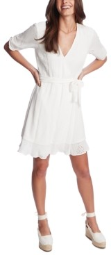 1 STATE Textured Eyelet-Embroidered Dress