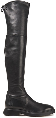 Stuart Weitzman Kristina Stretch-leather Over-the-knee Boots