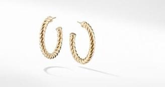 David Yurman Cable Classics Hoop Earrings In 18K Gold