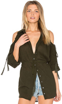 Haute Hippie Great Heights Tunic in Green. - size S (also in )