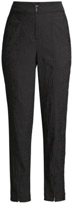 Rebecca Taylor Zebra Fleur Zip Pants