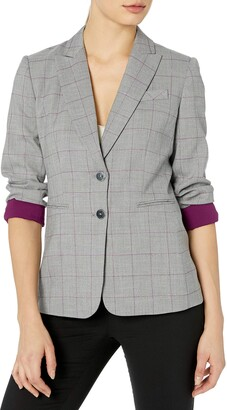 Tahari ASL Women's 2 Button Roll Sleeve Jacket