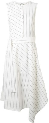 GOEN.J Pinstripe Midi Dress