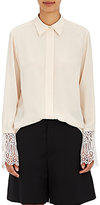 Chloé Women's Silk Lace-Cuff Blouse