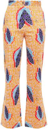 Stella Jean Printed Cotton-blend Poplin Bootcut Pants