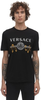 Versace Printed & Embroidered T-Shirt