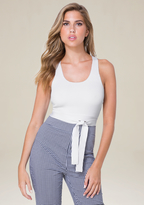 Bebe T-Back Halter Top