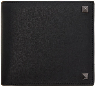 Valentino Black Garavani Rockstud Bifold Wallet