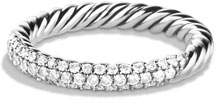 David Yurman Petite Pave Ring with Diamonds, Size 7