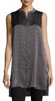 Eileen Fisher Sleeveless Printed Hammered Tunic
