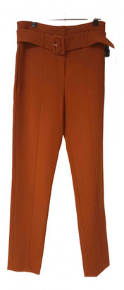 Theory Orange Viscose Trousers