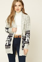 Forever 21 FOREVER 21+ Marled Knit Self-Tie Cardigan