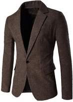CFD Men's Classic One Button Suit Jacket Blazer Coat S