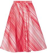 Vika Gazinskaya Striped Satin Midi Skirt - Red