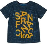 River Island Mini boys blue San Fran print t-shirt