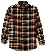 Roundtree & Yorke Casuals Long-Sleeve Large Plaid Flannel Sportshirt