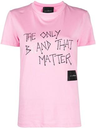 John Richmond slogan-print T-shirt