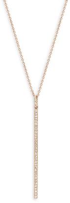 Saks Fifth Avenue 14K Rose Gold Diamond Bar Pendant Necklace