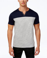 INC International Concepts Men's Colorblocked Split-Neck T-Shirt, Only at Macy's
