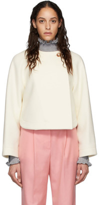 Chloé Off-White Wool Cropped Jacket