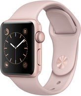Apple Watch Series 2 38mm Rose Gold-Tone Aluminum Case with Pink Sand Sport Band