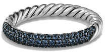 David Yurman Twisted Half Pavé Sapphire Band Ring