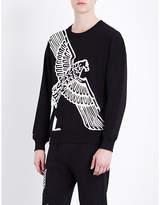 Boy London Eagle-print cotton-jersey sweatshirt