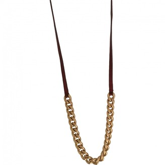 Miu Miu Gold Metal Necklaces