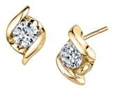 Sirena Diamond (1/5 ct. t.w.) Twist Earrings in 14k Yellow Gold