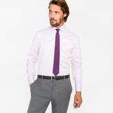 Paul Smith Men's Tailored-Fit Pink Diamond Jacquard 'Artist Stripe' Double-Cuff Shirt