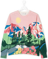 Stella McCartney landscape printed sweatshirt