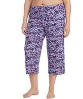 Jockey Plus Size Print Crop Pajama Pants