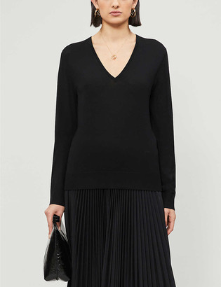 Joseph V-neck merino wool jumper