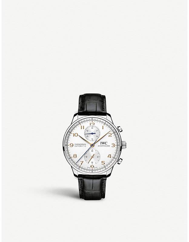 IWC IW371445 portugieser leather watch