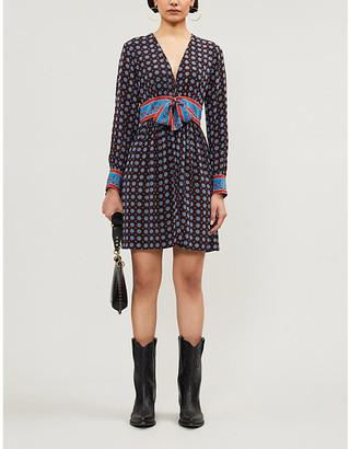 Sandro Cate silk-satin mini dress