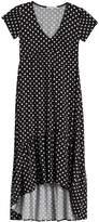 Velvet Torch High/Low Flounce Hem Dress