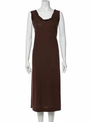 Lamberto Losani Scoop Neck Midi Length Dress w/ Tags Brown