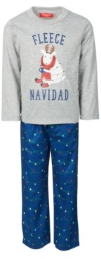 Family Pajamas Matching Kids Fleece Navidad Family Pajama Set, Created for Macy's